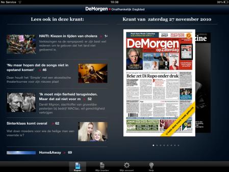 De Morgen op iPad - Krantenkiosk
