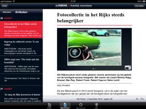 Het Parool op iPad - Artikel