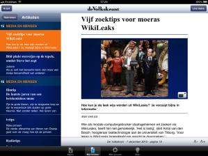 de Volkskrant op iPad - tekstmodus